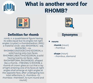 rhomb, synonym rhomb, another word for rhomb, words like rhomb, thesaurus rhomb