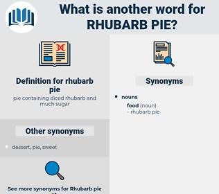 rhubarb pie, synonym rhubarb pie, another word for rhubarb pie, words like rhubarb pie, thesaurus rhubarb pie