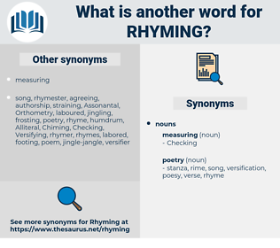 rhyming, synonym rhyming, another word for rhyming, words like rhyming, thesaurus rhyming