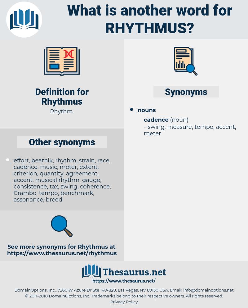 Rhythmus, synonym Rhythmus, another word for Rhythmus, words like Rhythmus, thesaurus Rhythmus