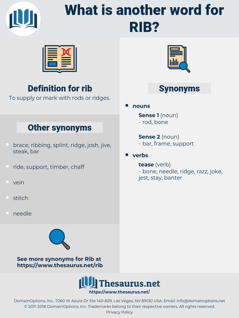 rib, synonym rib, another word for rib, words like rib, thesaurus rib