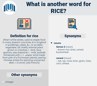 rice, synonym rice, another word for rice, words like rice, thesaurus rice