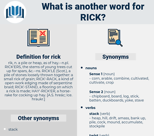 rick, synonym rick, another word for rick, words like rick, thesaurus rick