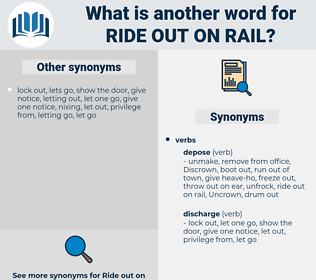 ride out on rail, synonym ride out on rail, another word for ride out on rail, words like ride out on rail, thesaurus ride out on rail