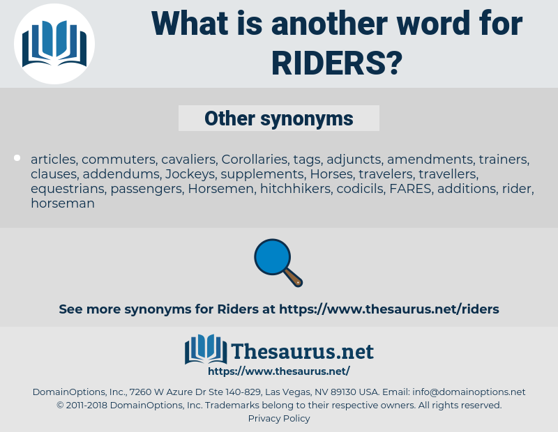 riders, synonym riders, another word for riders, words like riders, thesaurus riders