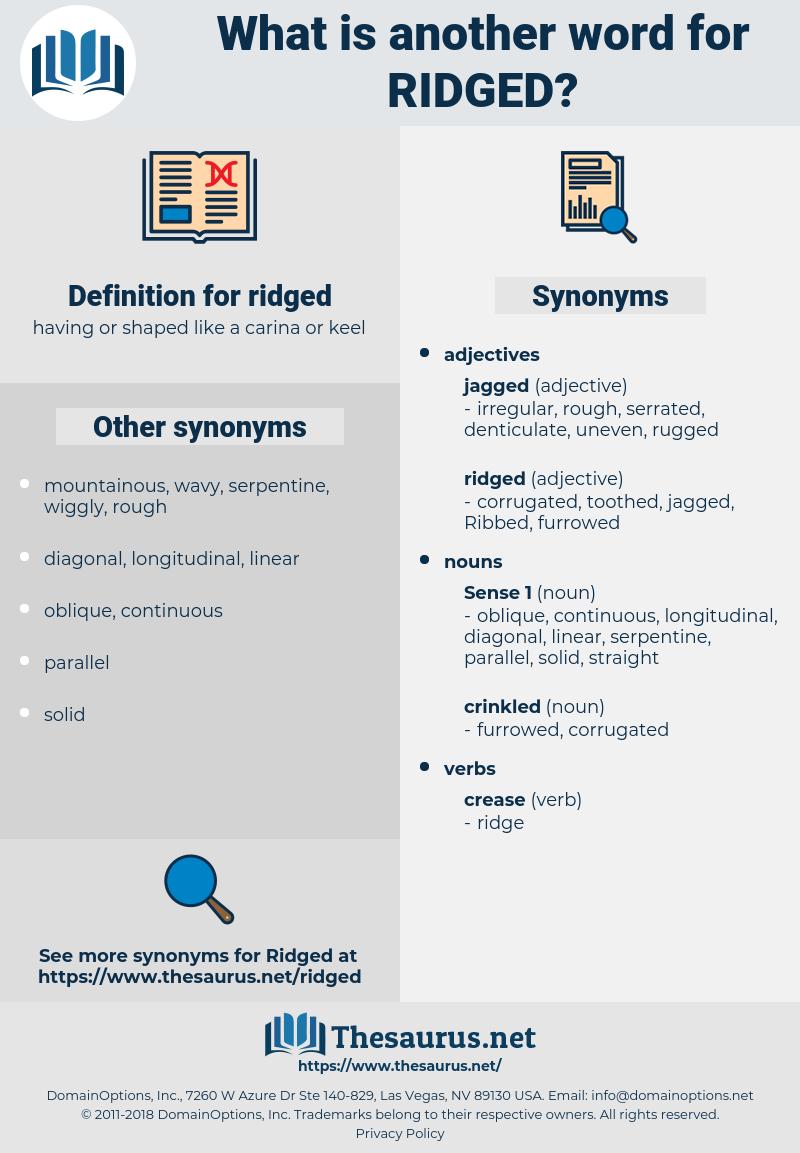 ridged, synonym ridged, another word for ridged, words like ridged, thesaurus ridged