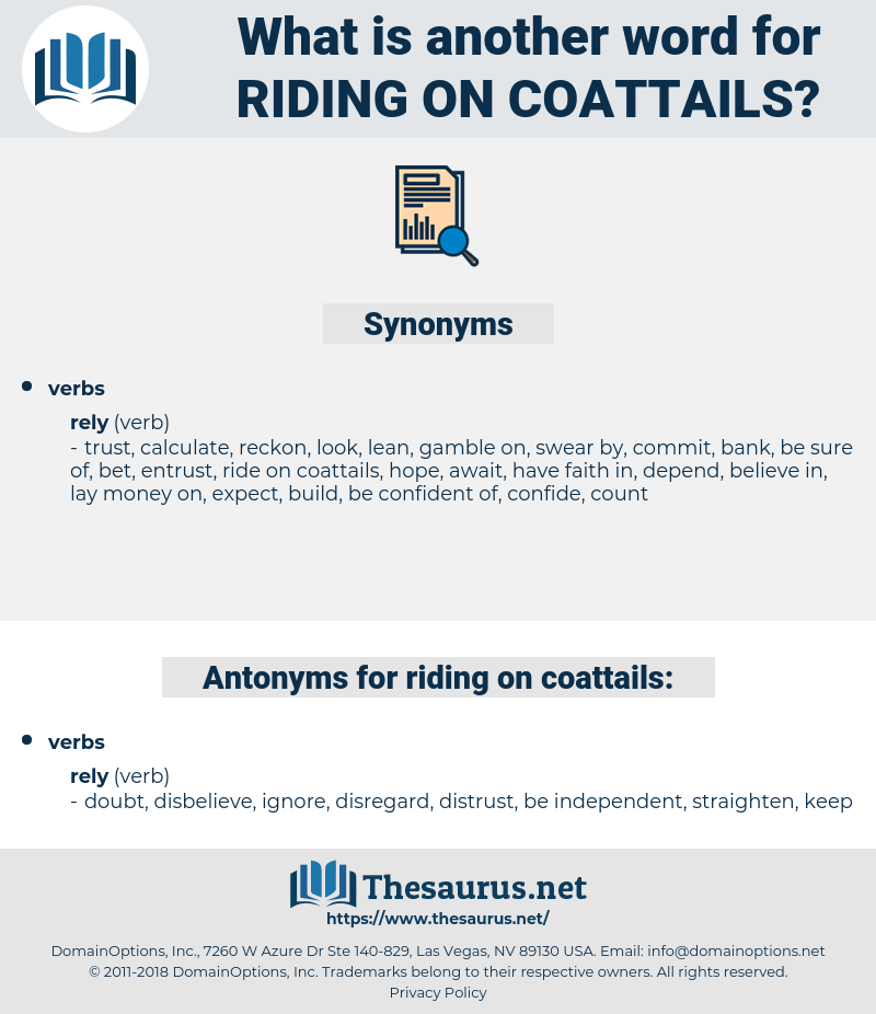riding on coattails, synonym riding on coattails, another word for riding on coattails, words like riding on coattails, thesaurus riding on coattails