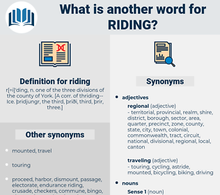riding, synonym riding, another word for riding, words like riding, thesaurus riding