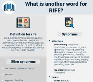 rife, synonym rife, another word for rife, words like rife, thesaurus rife