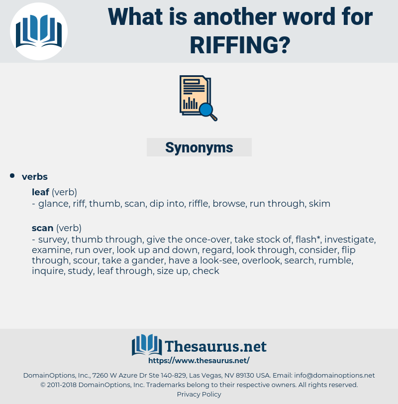 riffing, synonym riffing, another word for riffing, words like riffing, thesaurus riffing
