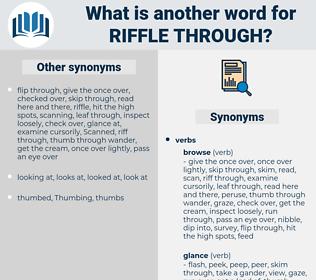 riffle through, synonym riffle through, another word for riffle through, words like riffle through, thesaurus riffle through