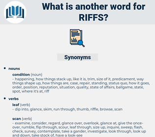 riffs, synonym riffs, another word for riffs, words like riffs, thesaurus riffs
