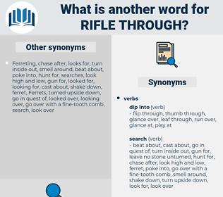 rifle through, synonym rifle through, another word for rifle through, words like rifle through, thesaurus rifle through