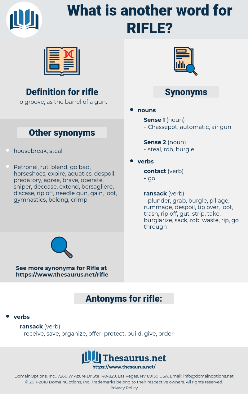 rifle, synonym rifle, another word for rifle, words like rifle, thesaurus rifle