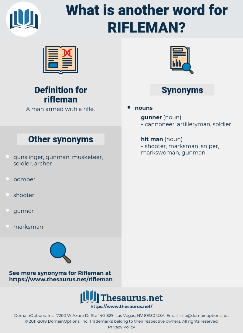 rifleman, synonym rifleman, another word for rifleman, words like rifleman, thesaurus rifleman