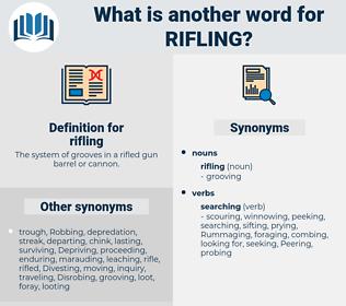 rifling, synonym rifling, another word for rifling, words like rifling, thesaurus rifling