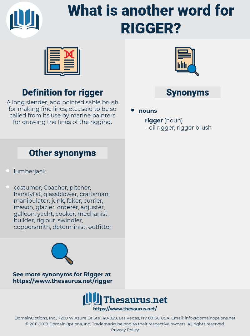rigger, synonym rigger, another word for rigger, words like rigger, thesaurus rigger