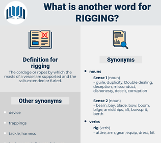 rigging, synonym rigging, another word for rigging, words like rigging, thesaurus rigging