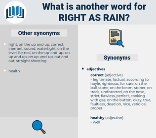 right as rain, synonym right as rain, another word for right as rain, words like right as rain, thesaurus right as rain