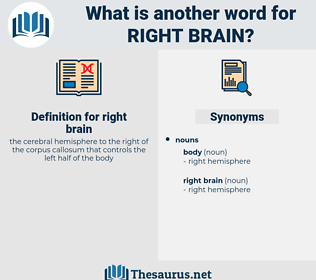 right brain, synonym right brain, another word for right brain, words like right brain, thesaurus right brain