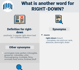 right-down, synonym right-down, another word for right-down, words like right-down, thesaurus right-down