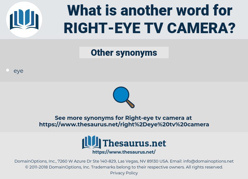 right-eye tv camera, synonym right-eye tv camera, another word for right-eye tv camera, words like right-eye tv camera, thesaurus right-eye tv camera