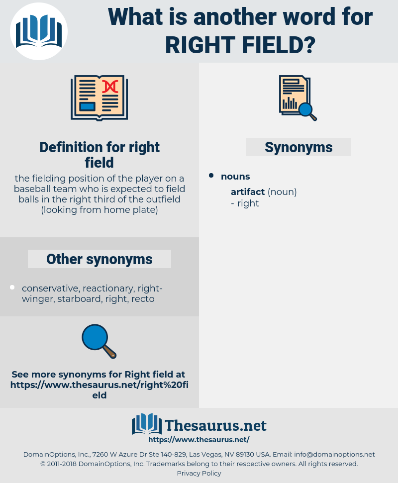 right field, synonym right field, another word for right field, words like right field, thesaurus right field