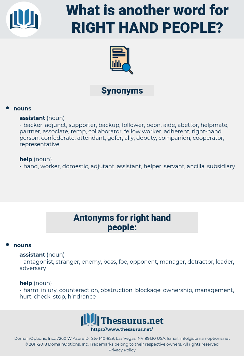 right-hand people, synonym right-hand people, another word for right-hand people, words like right-hand people, thesaurus right-hand people