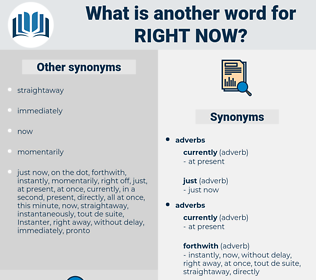right now, synonym right now, another word for right now, words like right now, thesaurus right now