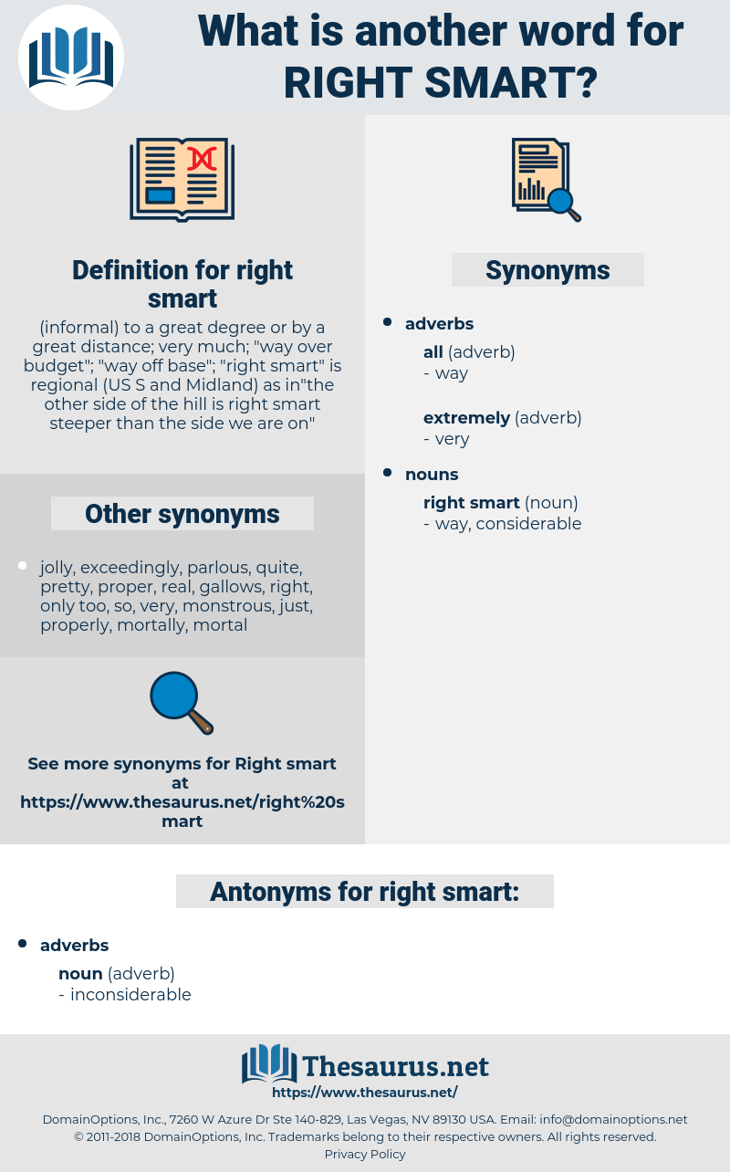 right smart, synonym right smart, another word for right smart, words like right smart, thesaurus right smart