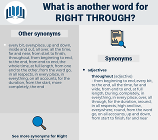 right through, synonym right through, another word for right through, words like right through, thesaurus right through