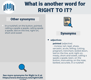 right to it, synonym right to it, another word for right to it, words like right to it, thesaurus right to it