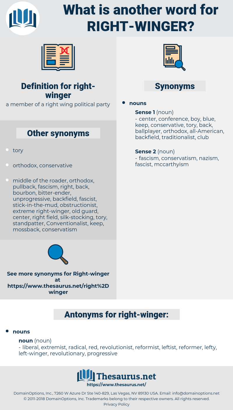 right-winger, synonym right-winger, another word for right-winger, words like right-winger, thesaurus right-winger