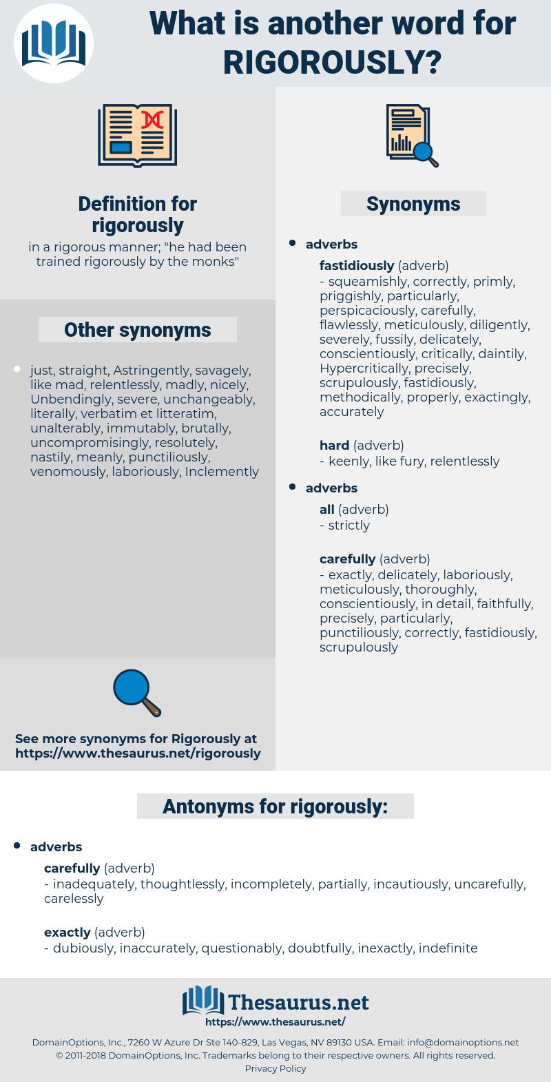 rigorously, synonym rigorously, another word for rigorously, words like rigorously, thesaurus rigorously
