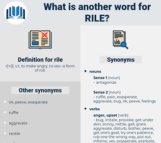 rile, synonym rile, another word for rile, words like rile, thesaurus rile