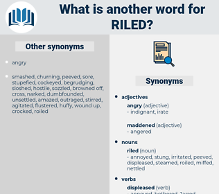 riled, synonym riled, another word for riled, words like riled, thesaurus riled
