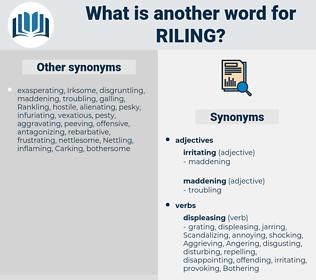 Riling, synonym Riling, another word for Riling, words like Riling, thesaurus Riling