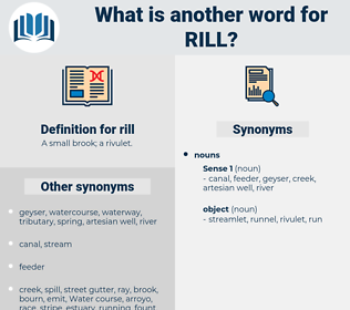 rill, synonym rill, another word for rill, words like rill, thesaurus rill