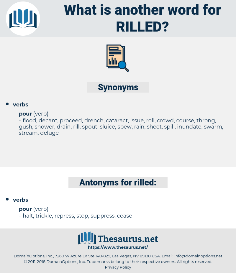 rilled, synonym rilled, another word for rilled, words like rilled, thesaurus rilled