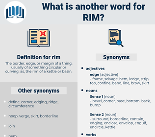 rim, synonym rim, another word for rim, words like rim, thesaurus rim
