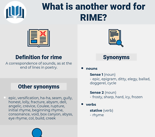 rime, synonym rime, another word for rime, words like rime, thesaurus rime