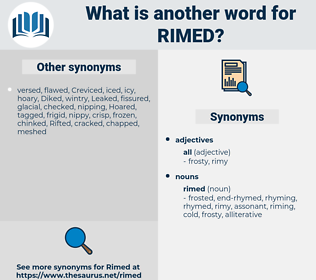 rimed, synonym rimed, another word for rimed, words like rimed, thesaurus rimed