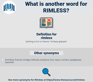 rimless, synonym rimless, another word for rimless, words like rimless, thesaurus rimless