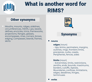 rims, synonym rims, another word for rims, words like rims, thesaurus rims