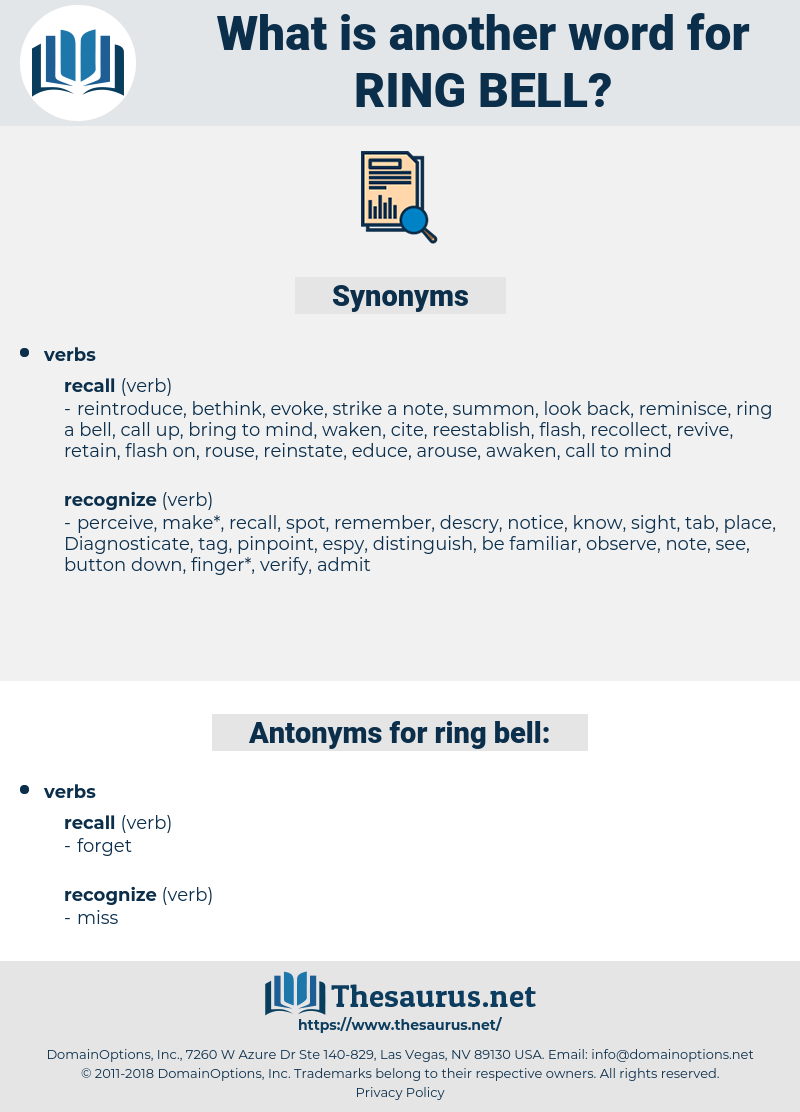 ring bell, synonym ring bell, another word for ring bell, words like ring bell, thesaurus ring bell