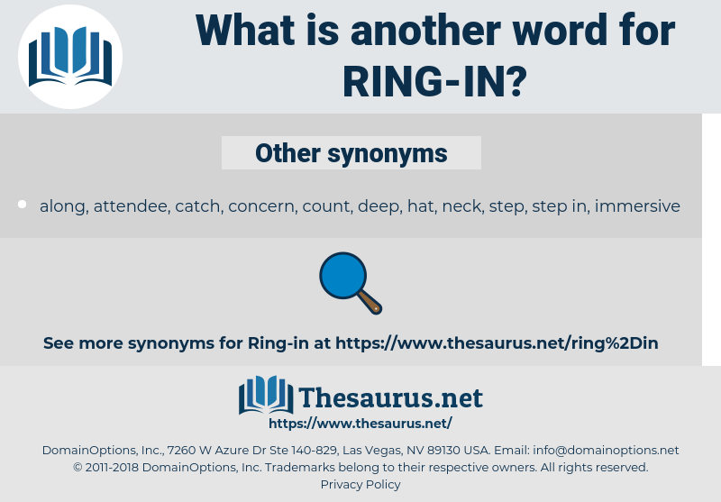 ring in, synonym ring in, another word for ring in, words like ring in, thesaurus ring in