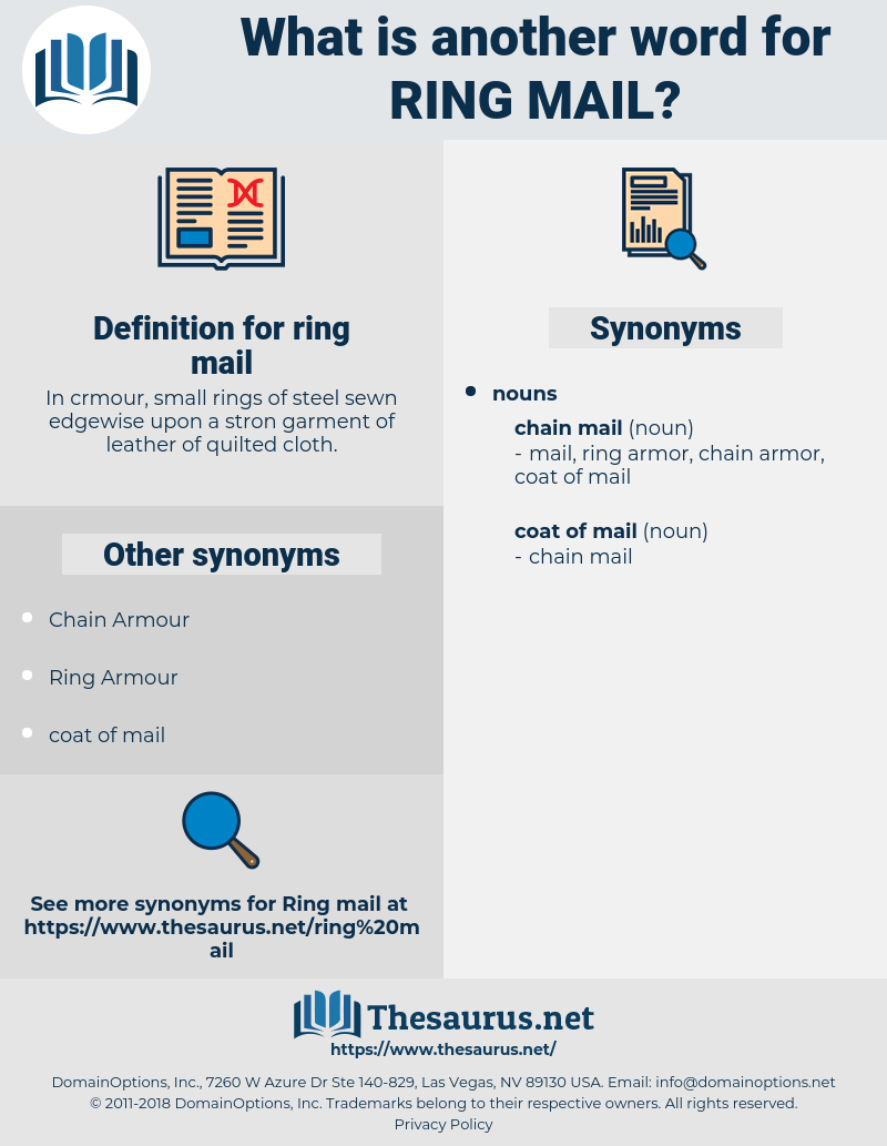 ring mail, synonym ring mail, another word for ring mail, words like ring mail, thesaurus ring mail