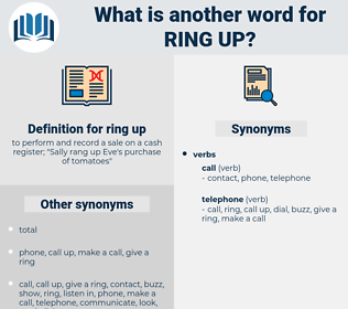 ring up, synonym ring up, another word for ring up, words like ring up, thesaurus ring up