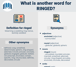 ringed, synonym ringed, another word for ringed, words like ringed, thesaurus ringed