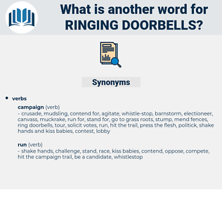 ringing doorbells, synonym ringing doorbells, another word for ringing doorbells, words like ringing doorbells, thesaurus ringing doorbells